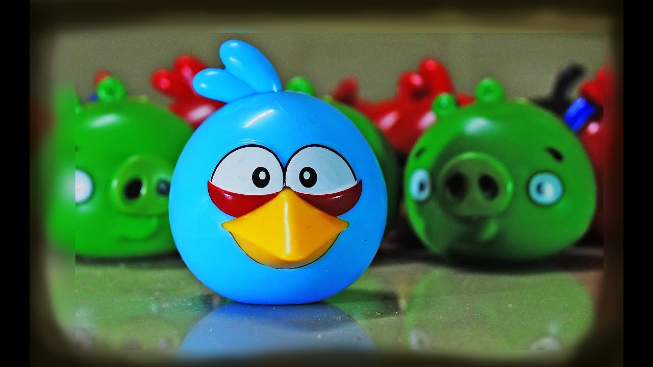 Angry Birds Toys : Angry bird blue gems surprise toys youtube