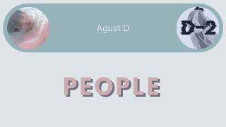 Gambar cover Agust D - People [Eng/Rom/Han Lyrics]