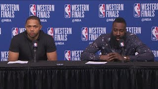 James Harden & Eric Gordon Postgame Interview - Game 5 | Warriors vs Rockets | 2018 NBA West Finals