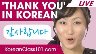 How to Say THANK YOU in Korean? | Basic Korean Phrases
