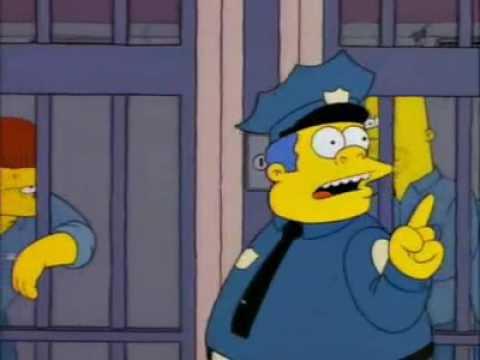 "Los simpson ""dísculpa cerdo, no podemos prometer eso"" Jefe gorgory Snake"