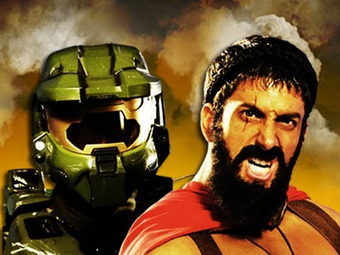 Master Chief vs Leonidas. Epic Rap Battles of History
