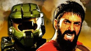 Master Chief vs Leonidas. Epic Rap Battles of History Season 2.(Download on iTunes ▻ http://bit.ly/iTunesLeonidas ◅ Watch behind the scenes ▻ http://bit.ly/leoncheif ◅