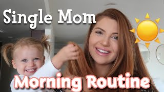MORNING ROUTINE: SINGLE MOM WORKING