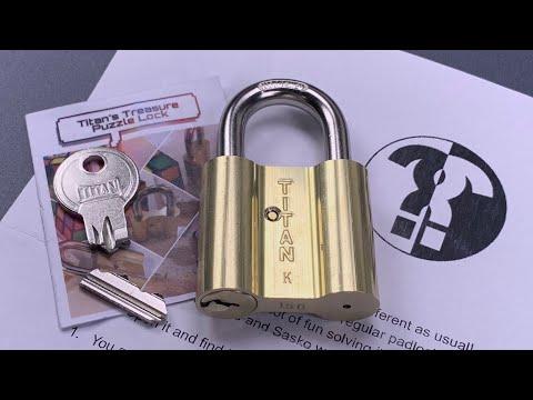 [1041] Titan's Treasure PUZZLE Lock Solved