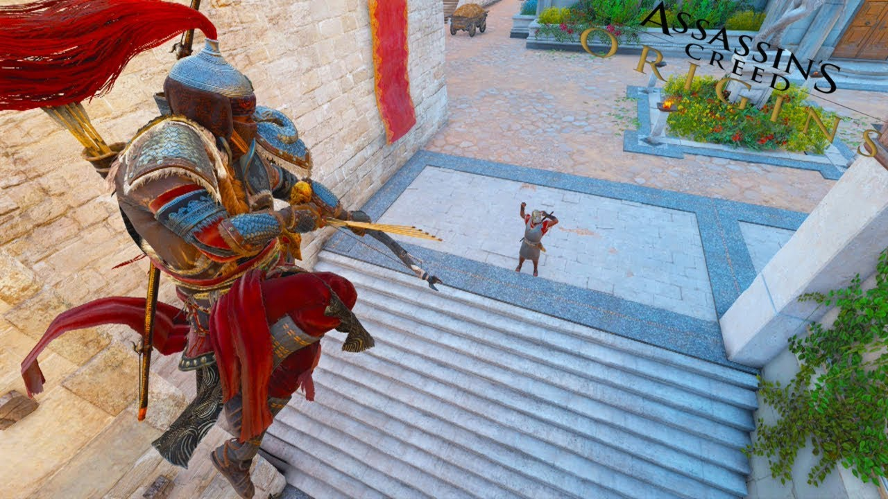 Assassin's Creed Origins: Stealth Bow Master Gameplay - Hideout Clearing Action