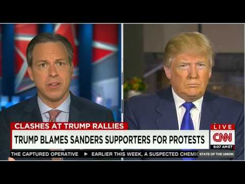 Thumbnail: Jake Tapper to Donald Trump: Stop inciting violence 'for the nation'