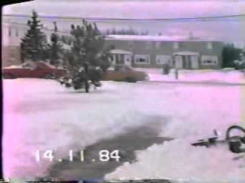 1984-NOV-14-MONDAY-OUR FIRST SNOW OF THE SEASON AT LORING AFB ME