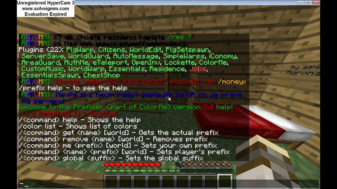 Custom prefix minecraft plugin
