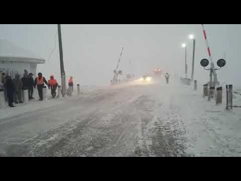 Буран на трассах близ Актобе 03.02.2020г.