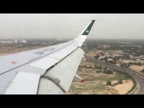 AirBlue Landing at Karachi Jinnah International Airport in 4K