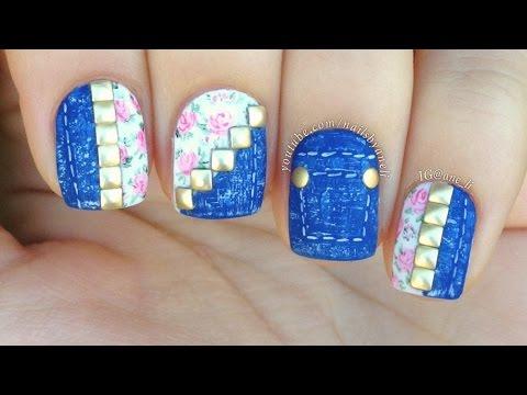 Denim & Floral Nail Art Tutorial thumbnail