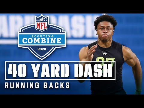 Running Backs Run The 40-Yard Dash At The 2020 NFL Scouting Combine