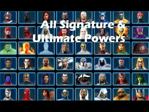 Marvel Heroes: Signature & Ultimate Powers Compilation