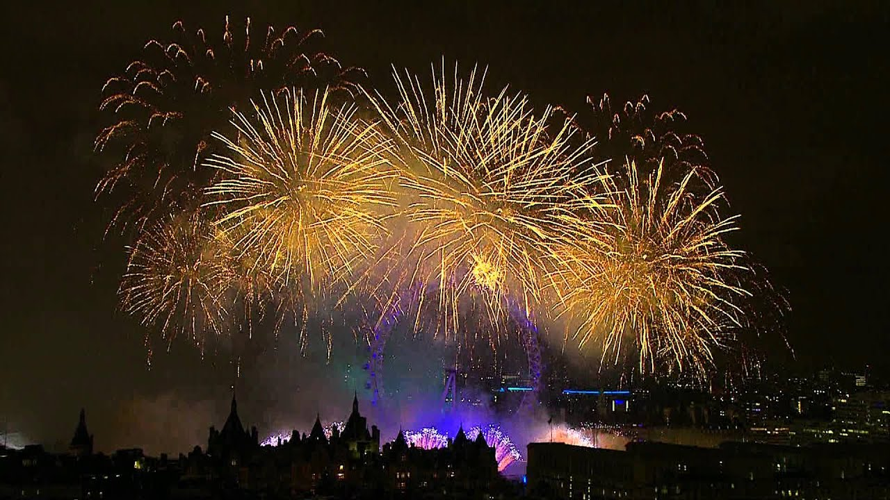London New Year's Fireworks 2012/2013 - Full HD - 1080P ...