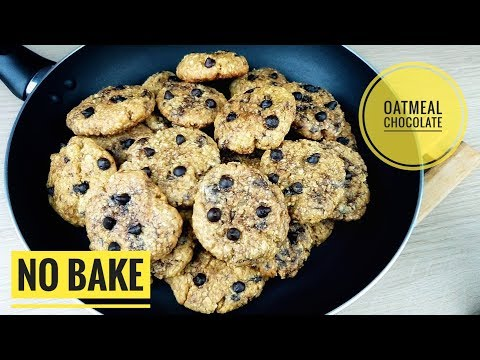 No Bake Yummy Oatmeal Chocolate Cookies | No Bake Cookies (without Oven Recipe)