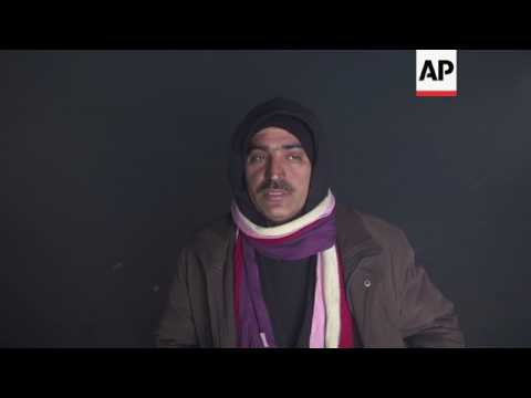 Migrants take shelter from Belgrade weather