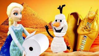 Холодное сердце Эльза в пустыне Машины сказки из игрушек Видео для детей