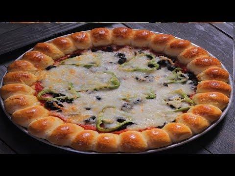 بيتزا هت في بيتك محشية الأطراف هشة جدا ولذيذة thumbnail