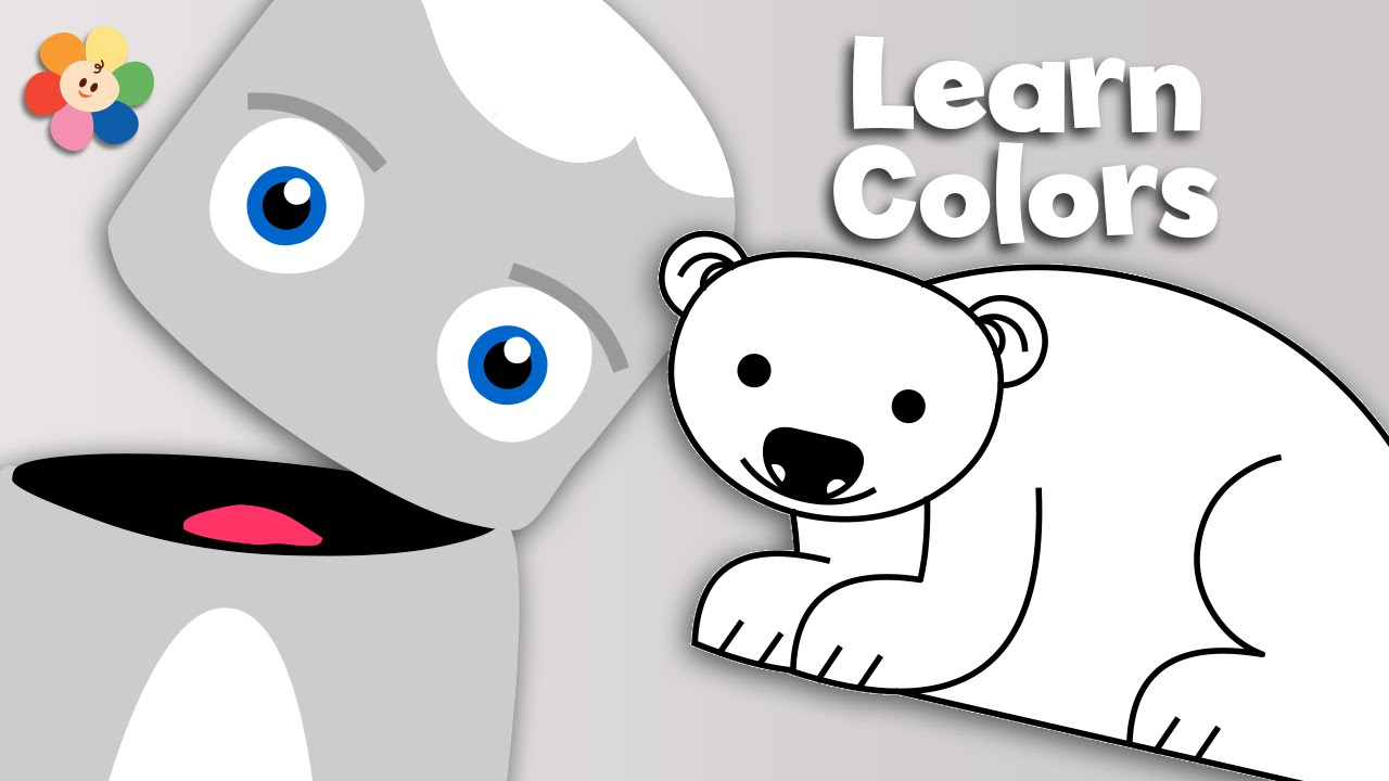 Color crew printables - Polar Bears Snow And Clouds White Learn The Colors Color