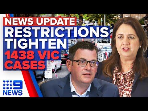 Queensland restrictions tighten, Victoria COVID-19 cases skyrocket   Coronavirus   9 News Australia