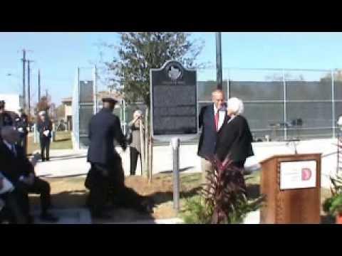 Dedication Ceremony. Texas Historical marker for J.D. Tippit