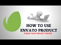 How to use envato product