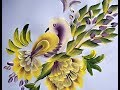 One Stroke Painting- Decorative Bird On Branch