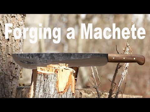 Forging a Machete - Blacksmithing
