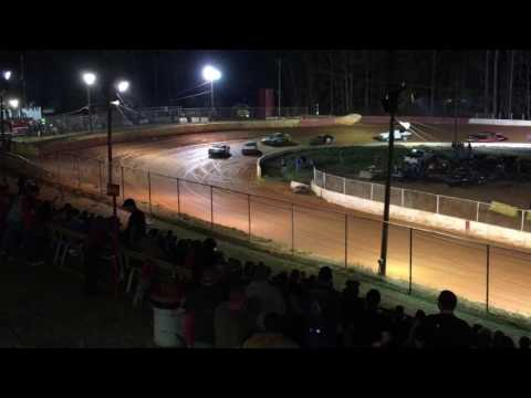 Carl Maree #2 Renegade Car- March 25, 2017-East Lincoln Speedway-Main Race, 3rd Place Finish!