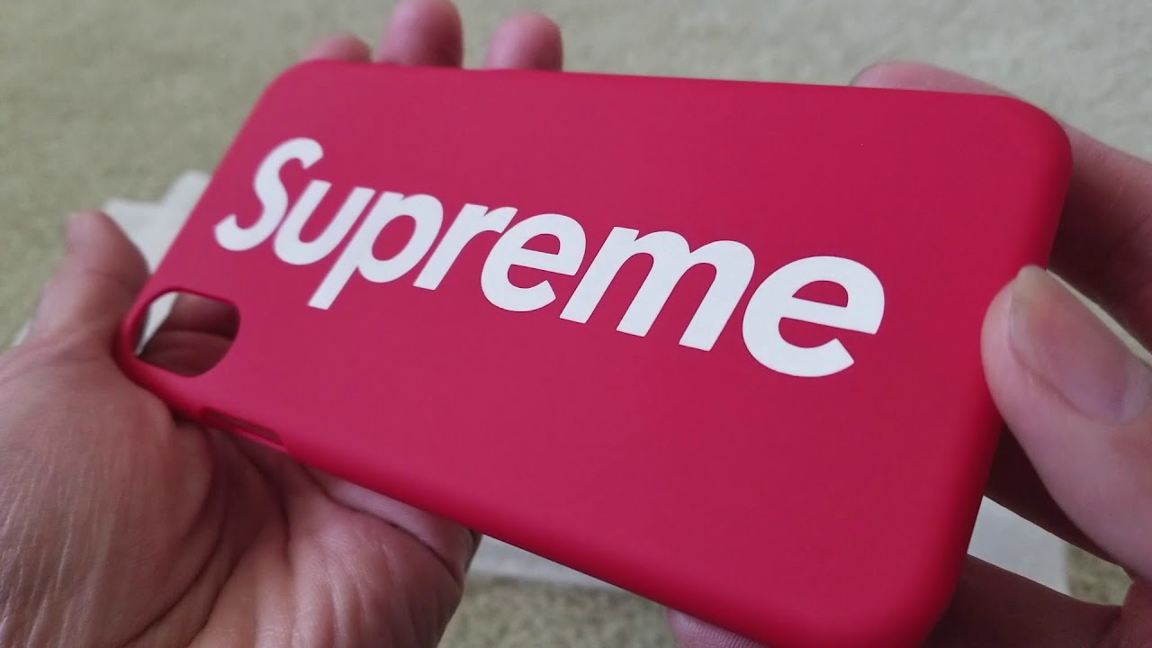 best sneakers b688a c7f29 Supreme x Apple iPhone X 10 Hot Red Ultra Thin Case! 11 21 2017