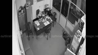 Thief recorded clearly on CCTV camera