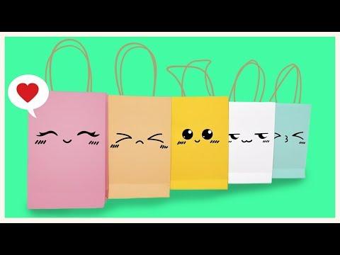 HOW TO MAKE KAWAII PAPER BAG DIY [TUTORIAL]