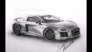 Drawing Audi R8