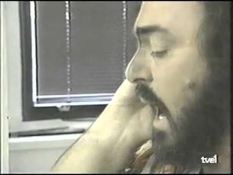 Luciano Pavarotti rehearsal :