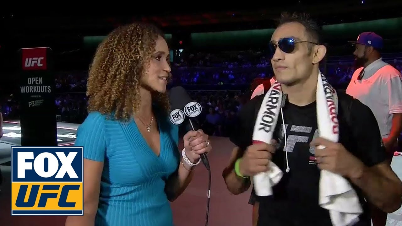 Karyn Bryant talks with Tony Ferguson after his open workout in Las Vegas   INTERVIEW   UFC TONIGHT