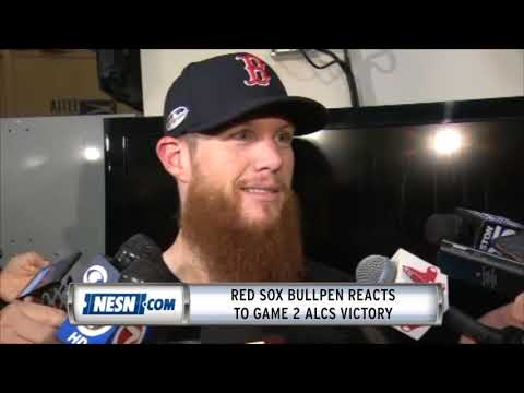 Red Sox bullpen reacts to Game 2 ALCS victory over Astros