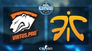 CS:GO - Virtus.Pro vs. Fnatic [Cbbl] - ESL One 2015 Katowice - Semifinal - Map 1