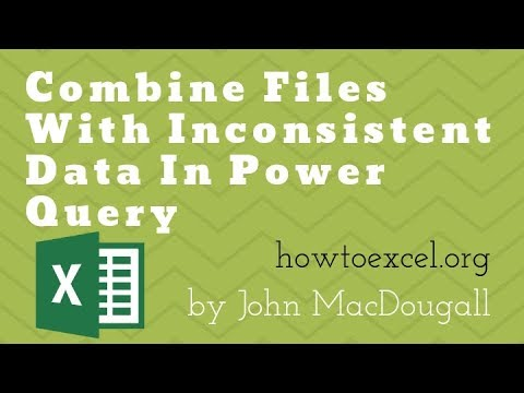 Combine Files With Inconsistent Columns In Power Query
