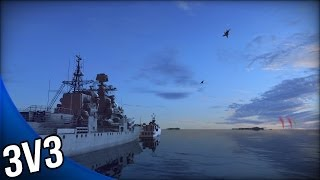 Wargame Red Dragon - 3v3 Naval Combat Gameplay - Teamwork