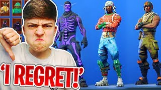 Skins I REGRET Buying in Fortnite! (DONT BUY THESE!)