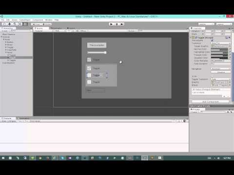 Modern GUI Development in Unity 4.6 - #6: Input, Selectables, Navigation, and Transitions