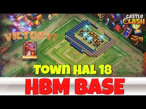 Building An HBM BASE | TOWN HALL 18 | #3 | CASTLE CLASH