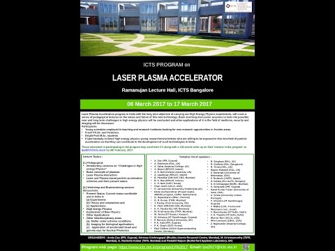 Laser Plasma Electron Accelerator: Experimental studies performed at RRCAT, Indore by Anand Moorti