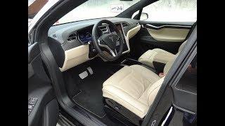 Tesla Model X. Test Drive and review.  Testfahrt und Überprüfung.  Первые впечатления...