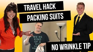 Travel Hack for Packing Suits Revealed EASY