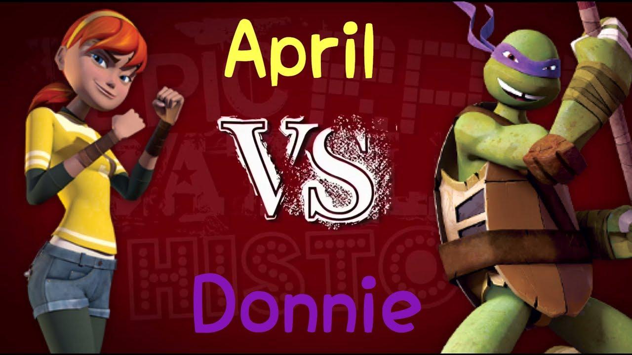 April vs  Donnie || TMNT 2012/Epic Rap Battles Of History