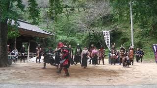 平成30年9月23日に佐賀県三養基郡で行われた『ぼた餅武者行列』で...