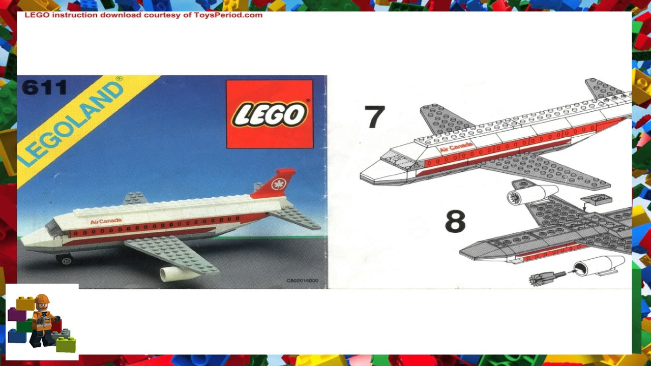 Lego Instructions Town Special 611 Air Canada Jet Plane