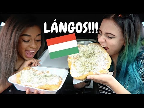 American Trying LANGOS - Traditional Hungarian Food